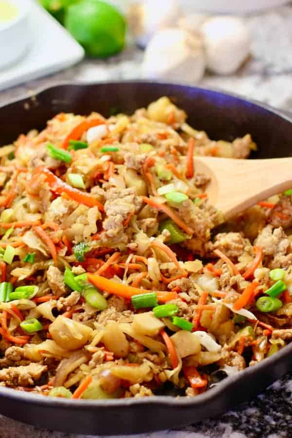 On-Pan Egg Roll in a Bowl