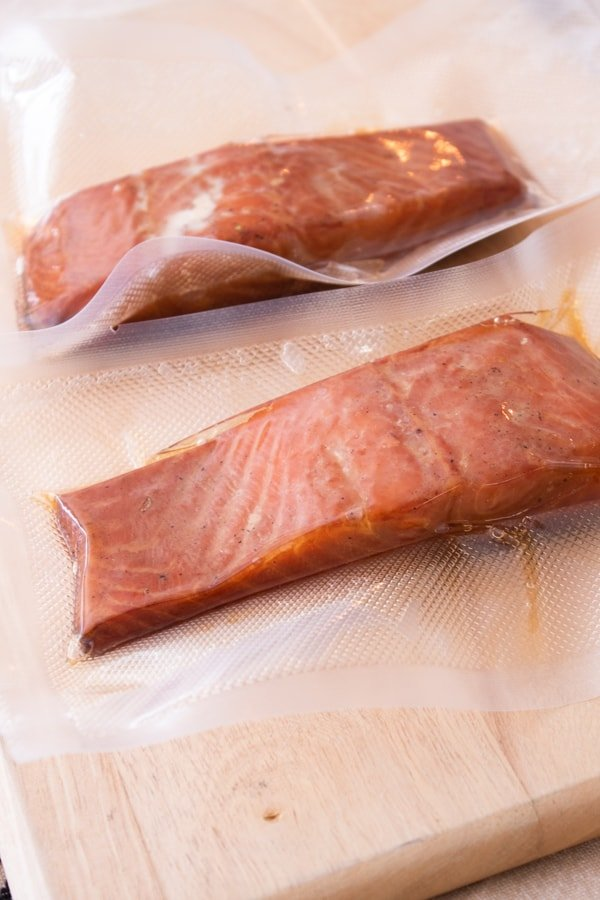smoked salmon in vacuum sealed bags