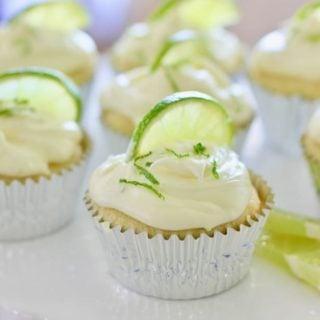 Margarita Cupcakes in silver liners