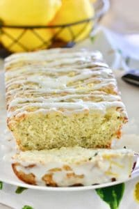 Lemon Zucchini Bread ready to eat