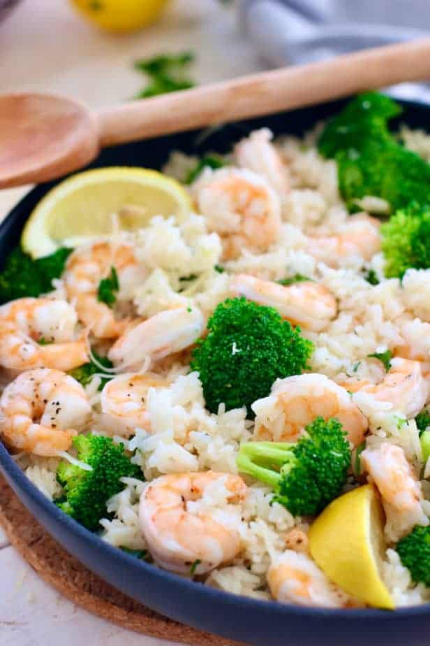 Shrimp and Rice ready to serve