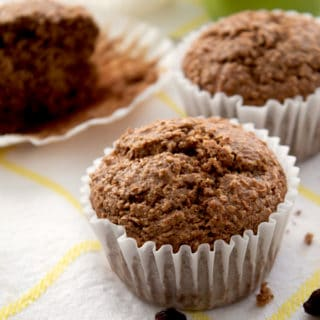 up close picture of bran muffin