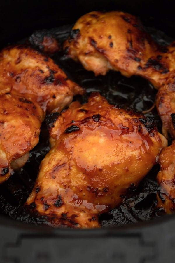 cooked bbq chicken in air fryer