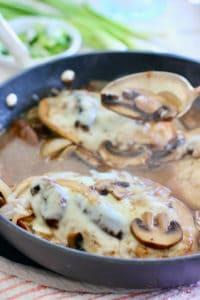 Cheesy Chicken and Mushrooms