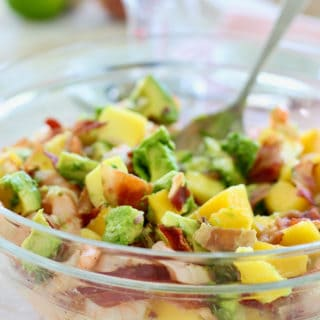 Shrimp Avocado Salad with Mango